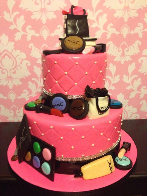 Makeup Themed Birthday Cakes Makeup Nuovogennarino